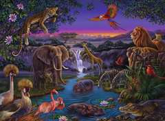 African Animals at Night - image 2 - Click to Zoom