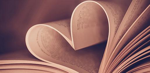 Buch in Herzform