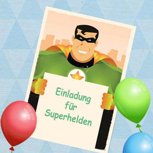 Kindergeburtstags Einladungen für Superhelden