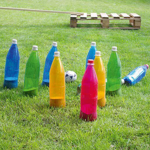 Spiel für den Kindergeburtstag: Gartenkegeln