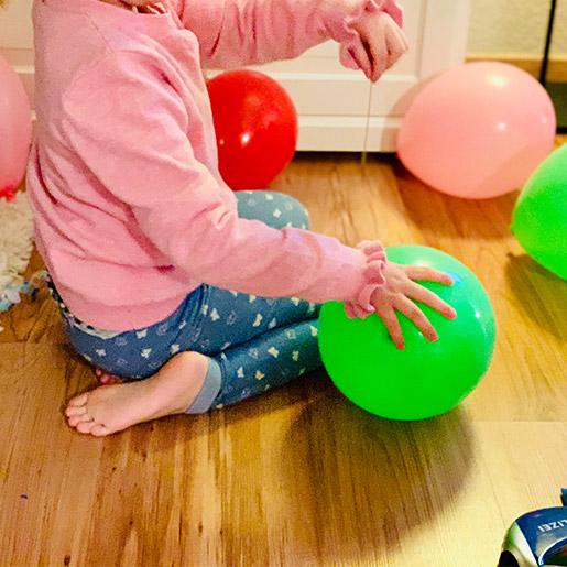 Spannendes Kindergeburtstagsspiel: Die Ballonschatzsuche