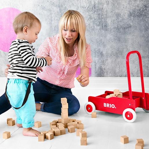 BRIO Lauflernwagen und Holzspielzeug