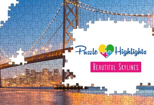 Logo Puzzle Highlights -Beautiful Skylines