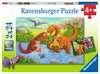 Dinosaurs at play         2x24p Puslespil;Puslespil for børn - Ravensburger