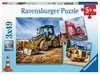Digger at work!           3X49P Puslespil;Puslespil for børn - Ravensburger