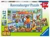 Komm wir gehen einkaufen  2x12p Puslespil;Puslespil for børn - Ravensburger
