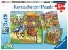 Ritterturn. im Mittelalter3x49p Puslespil;Puslespil for børn - Ravensburger
