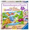 My first outdoor puzzle - Les copains dinos Puzzle;Puzzle enfant - Ravensburger
