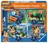 Rusty Rivets 4 v 1 2D Puzzle;Dětské puzzle - Ravensburger