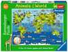Animals of the World Giant Floor Puzzle, 60pc Puzzles;Children s Puzzles - Ravensburger