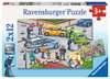 Mit Blaulicht unterwegs Puzzle;Kinderpuzzle - Ravensburger