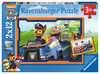 Tlapková Patrola v nasazení     2x12 dílků 2D Puzzle;Dětské puzzle - Ravensburger
