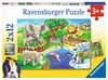 Animals in the Zoo Puslespil;Puslespil for børn - Ravensburger