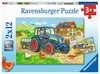Puzzles 2x12 p - Chantier et ferme Puzzle;Puzzle enfant - Ravensburger
