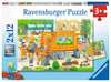 Unterwegs mit Müllabfuhr und Kehrmaschine Puzzle;Kinderpuzzle - Ravensburger