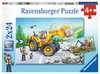 Diggers at Work 2x24p Puslespil;Puslespil for børn - Ravensburger
