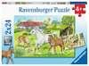 Ve stájích 2x24 dílků 2D Puzzle;Dětské puzzle - Ravensburger