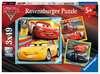 Disney Pixar Cars 3, 3 x 49pc Puslespil;Puslespil for børn - Ravensburger