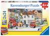 With the fire brigade Puslespil;Puslespil for børn - Ravensburger