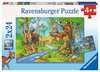 MIESZKAŃCY LASU 2X24 Puzzle;Puzzle dla dzieci - Ravensburger