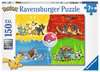 Puzzle 150 p XXL - Les différents types de Pokémon Puzzle;Puzzle enfant - Ravensburger