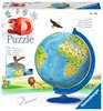 Children s World Map 3D Puzzle®, 180pc 3D Puzzle®;Puslespillballer - Ravensburger