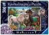 Glitzerndes Pferdepaar Puzzle;Erwachsenenpuzzle - Ravensburger