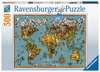 Antike Schmetterling-Weltkarte Puzzle;Erwachsenenpuzzle - Ravensburger