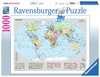 Puzzle 1000 p - Carte du monde politique Puzzle;Puzzle adulte - Ravensburger