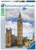 Legrační kočka na Big Benu 1500 dílků 2D Puzzle;Puzzle pro dospělé - Ravensburger