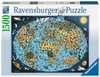 Puzzle 1500 p - Mappemonde colorée Puzzle;Puzzle adulte - Ravensburger