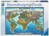 MAPA ŚWIATA 2000 EL    14 Puzzle;Puzzle dla dorosłych - Ravensburger