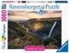 Haifoss auf Island        1000p Puslespil;Puslespil for voksne - Ravensburger