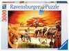 SAWANNA MASAJÓW 3000EL Puzzle;Puzzle dla dorosłych - Ravensburger
