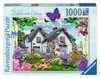 Country Cottage Collection - Delphinium Cottage, 1000pc Puzzles;Adult Puzzles - Ravensburger