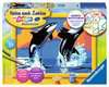 Verspielte Orcas Malen und Basteln;Malen nach Zahlen - Ravensburger