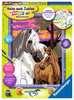 Pferde im Sonnenuntergang Malen und Basteln;Malen nach Zahlen - Ravensburger