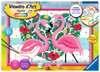 Numéro d art - grand - Flamingos amoureux Loisirs créatifs;Peinture - Numéro d Art - Ravensburger