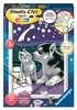 Numéro d art - petit - Chiot Husky et son compagnon le chaton Loisirs créatifs;Peinture - Numéro d'Art - Ravensburger