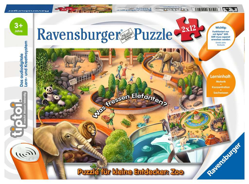Ravensburger-00051 tiptoi Puzzle fr kleine Ent