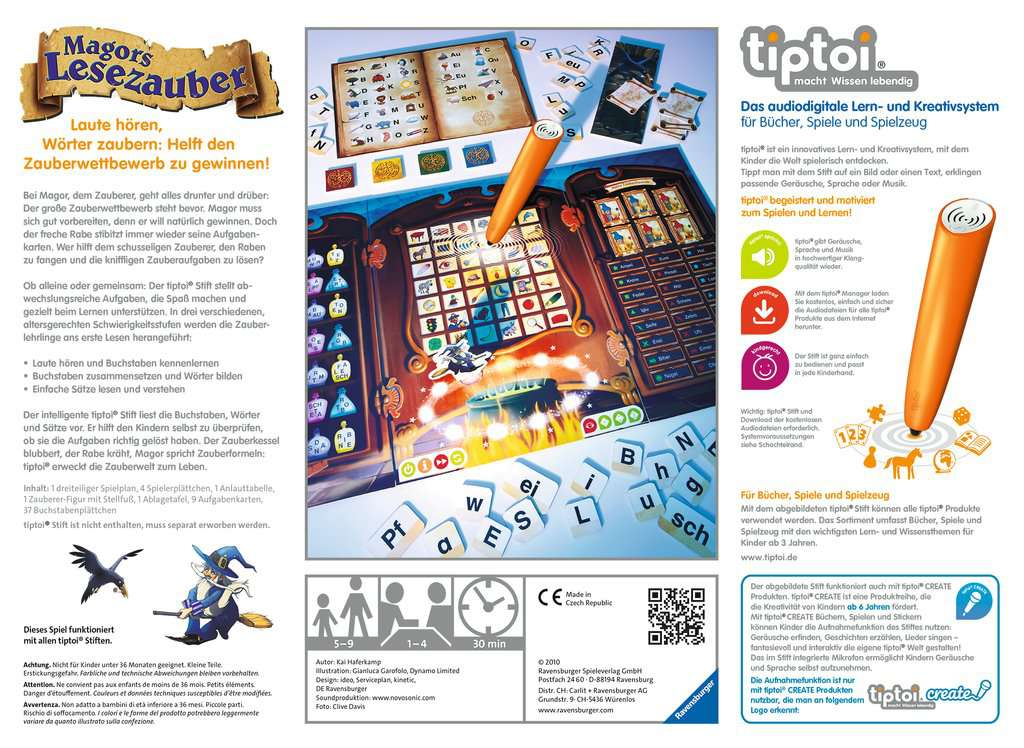 Ravensburger tiptoi Magors Lesezauber Interaktives Lernspiel Lernsystem Spiel Spiele