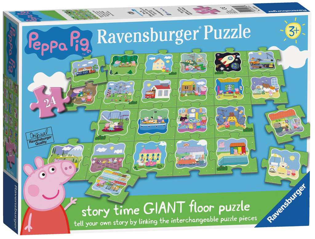 Peppa Pig Tell A Story Floor Puzzle 24pc Children S