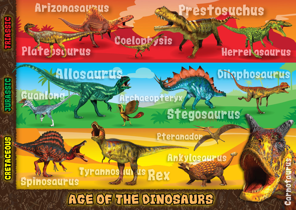 Deadliest Dinosaurs Giant Floor Puzzle 60pc Image 2