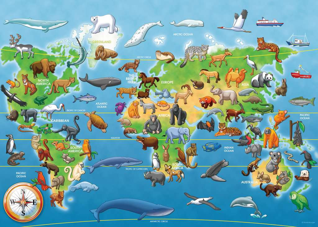 Endangered Animals Giant Floor Puzzle 60pc Image 2