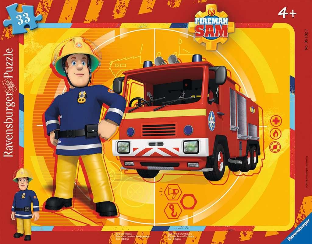 Puzzle cadre 30 48 p sam et son camion sam le pompier - Sam le camion de pompier ...