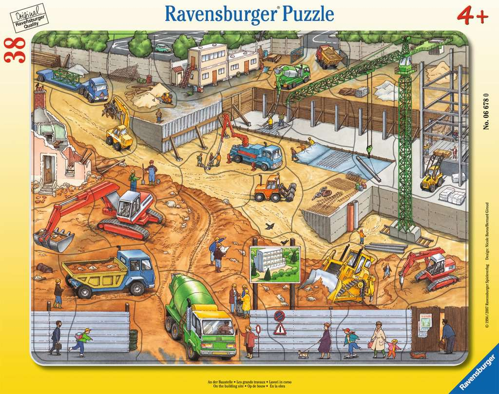 An der Baustelle   Kinderpuzzle   Puzzle   Produkte   An der Baustelle