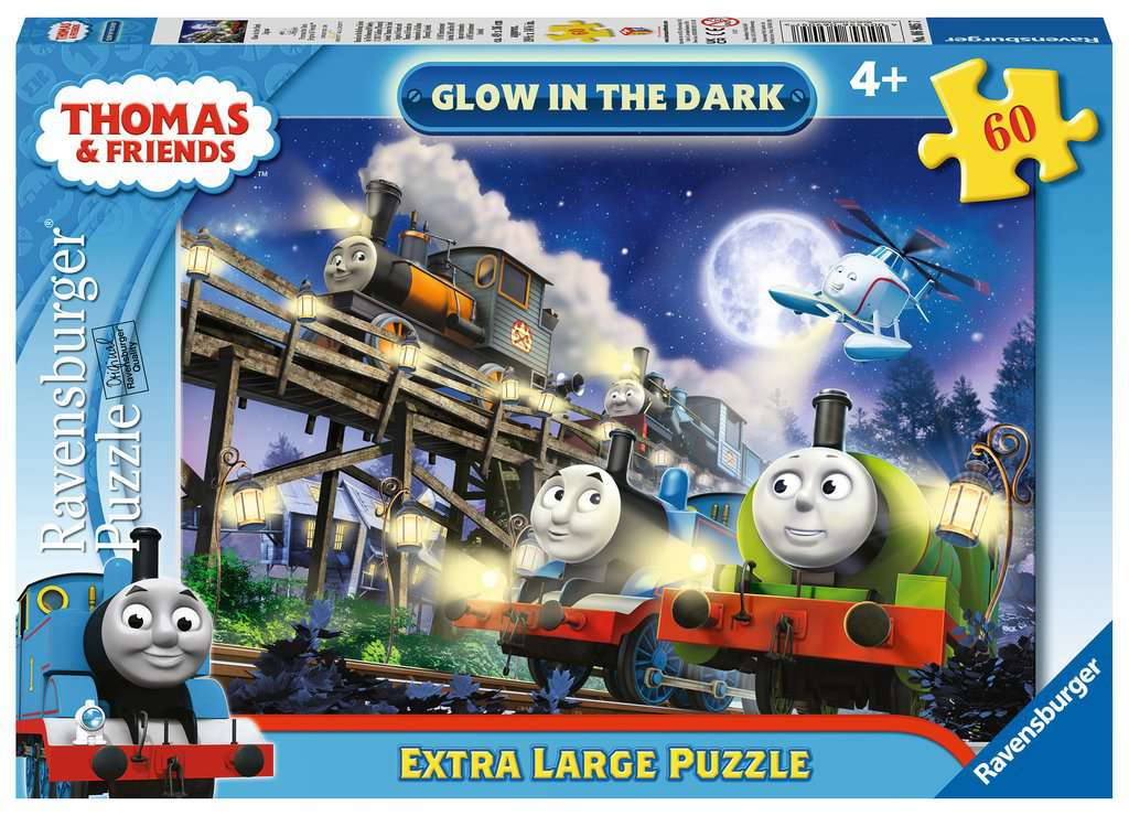 Thomas Amp Friends Giant Floor Glow In The Dark Puzzle 60pc
