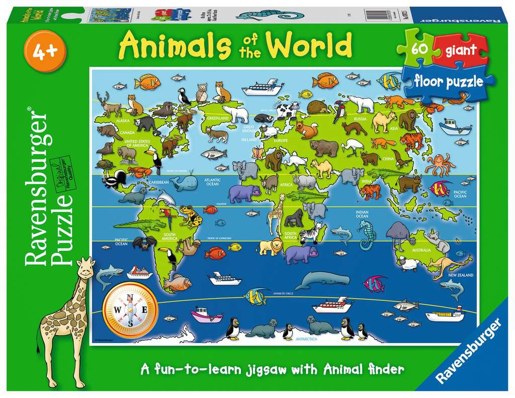 Animals Of The World Giant Floor Puzzle 60pc Children S Puzzles