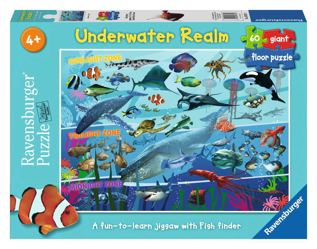 Underwater Realm Giant Floor Puzzle 60pc Image 1