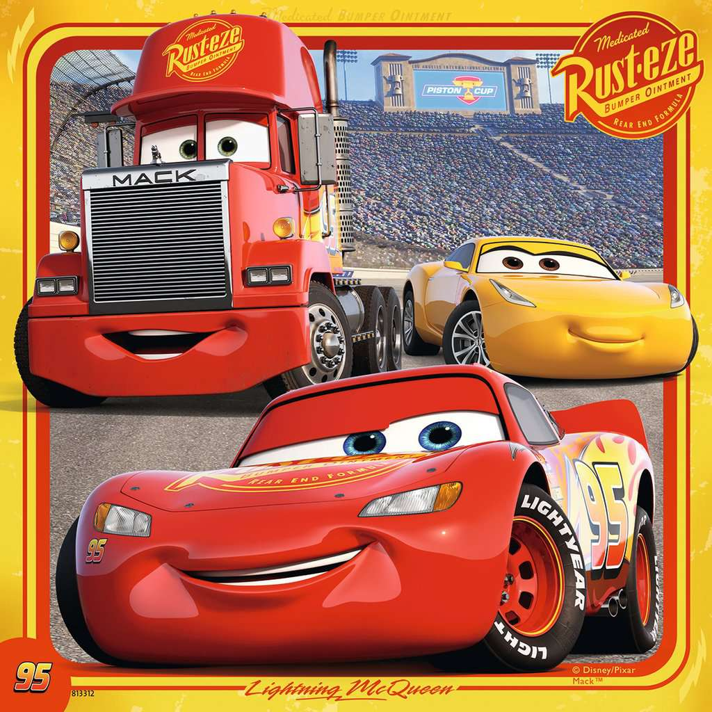 Disney Pixar Cars 3, 3 X 49pc